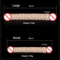 45cm Super Long Soft Flexible Double Heaed Dildo, Realistic ...