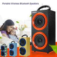2016 Haut-parleurs sans fil Bluetooth sans fil Mains libres avec microphone Support TF Card FM Radio Haut-parleurs luxueux de luxe MIS130