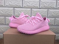 Hot sell pinks boost 350 Kanye West Boost Shoes Classic Gray...