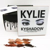 Kylie Jenner Palettes Maquillage Kyshadow de fard à paupières lipgloss pressée nue poudre rouge à lèvres Kit ombre à paupières maquillage Palette naturel Brighten