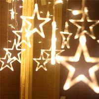 138 Leds Christmas Lights Romantic Fairy Star LED Curtain St...