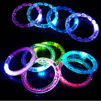 50 Pcs lot Multicolor LED Flashing bracelet Light Up Acrylic...