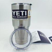 YETI 30 oz Cups Rambler Tumbler Yeti Cooler 304 Stainless St...