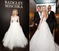 Красивые Сладкий Современные Простые бальное платье свадебное платье Милая тюль длиной до пола свадебное платье Кнопка Назад свадебное платье События платья