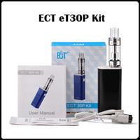 Original ECT eT30P kit mod Kit Cigarrillos Electrónicos 2.5ml Kenjoy vaporizador niebla mini plumas vapor 2200mah eT30P Mod