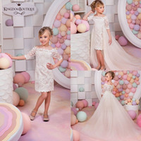 Applique Detachable Flower Girls' Dresses For Weddings ...