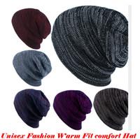 Unisex Fashion Cap Beanies Ski Hat Winter Warm Knitted Hat O...