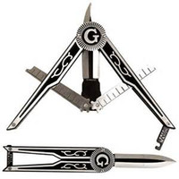 Free- mason gear lift knife, Pocket knife for the masonic embl...
