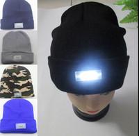 Взрослый Led Winter Beanie 5LED свет Beanies Hat г вязаная шапка теплая шапочка Led шапочка Cap Зимняя шапочка крючком освещения Cap KKA948
