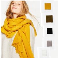 Mulheres Sólidos Scarf moda inverno quente lenços envoltório xale Blanket Scarf Oversized Enrole Xaile 200 * 100 centímetros KKA921