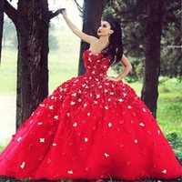 2017 Red Ball Gown Quinceanera Dresses Lace Quinceanera Gown...