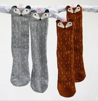 DHL FREE Kids Lovely 3D Knee High Fox socks high quality inf...