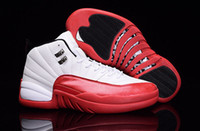 White Red Leather Mens Shoes 2016 Designer Fashion Basketbal...