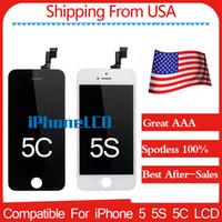 Ship from USA A + (100% Spotless) de l'Assemblée d'affichage LCD Avec marque Frame nouvelle pour l'iPhone 5 5s 5c LCD Noir / Blanc Les meilleurs services