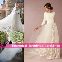 Modest Design Bohemian Princess Style Graceful Bridal Gowns ...