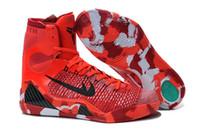2016 New Arrival Men' s Red Kobe 9 Basketball Shoes Retr...