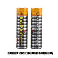 Original BestFire IMR 18650 2600mAh 60A 3.7V Batterie rechargeable High Drain pour 510 thread Box Mod