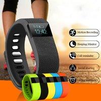 TW64 bracelet de remise en forme smart bracelet de santé Bluetooth Smartband bracelet de sport podomètre moniteur de sommeil pour IOS Samsung Android
