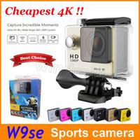 4K EKEN W9se Casque W8 HD Action Sports Wifi Cam Caméra 30M sous-marine étanche 2 pouces LCD Full HD 1080p 140 ° casque vidéo DV