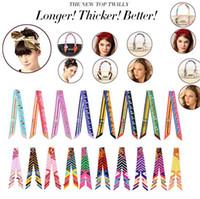 Atacado 18 estilos MA - MR colorido Twilly lenço bolsa acessórios de decoração novo Twilly lenço marca arco de cabelo bandanas 4027