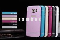 Nota 3 Case Smartphone parachoques cubierta posterior para Samsung Galaxy S5 S6 S6 Nota4 Note3 borde