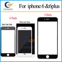 Noir blanc écran de verre avant avec OCA adhensive + numériseur à écran tactile pour iPhone 6 6 plus pièce de réparation remplacement écran LCD Lcd