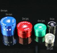 meuleuse fumeurs Grinder tabac meuleuse Amsterdam Métal grinder couleurs CNC diamètre meuleuse 60mm 50mm 40mm 30mm mix pour pipe