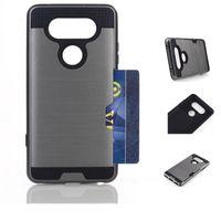 Hybrid Dual Case Лэ для LG V20 V10 с Бумажник Кредитные карточки удостоверения личности Absorption отсеками Тонкий Броня Shell Heavy Duty Защитная крышка
