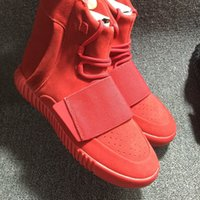 Kanye West 750 Boost Red October  TRIPLE BLACK  Glow in the ...