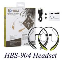 Stereo HBS-904 Casques neckbands sans fil écouteurs Bluetooth 4.0 Sport casque pour HBS904 HBS-904 Casques EAR190