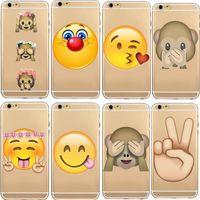 Для iPhone 7 6 6S Plus 5 5S Emoji телефон Мягкие случаи Резина TPU мартышки Shy Обложка для iPhone7 7Plus 5.5