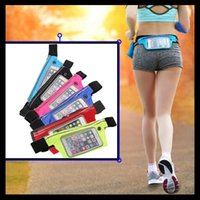 Running Bag Sport Waist Packs reflective strip band touch wi...