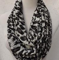Leopard Infinity Scarf Meryl Neckerchief Scarves Women'...