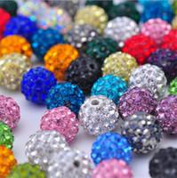 Barato! 700pcs / 10 milímetros monte de várias cores Micro Pave CZ Disco bola de cristal Shamballa pulseira talão colar de contas de 2500