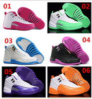 Retro 12 Womens Athletic Basketball Shoes Plus Size 36- 40 Sp...