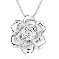 2016 nouveaux arrivée fleur argent 925 colgantes collier mujer moda collane collares de bijouterie cru mujer N773