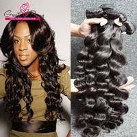 3pcs lot Brazilian Loose Deep Wave Human Hair Extensions AAA...