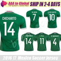 Mexique Jersey 2016 Copa America Mexique Soccer Jersey 2017 Green shirt de football CHICHARITO Camisetas de football Javier Hernandez