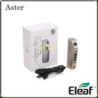 Authentique Eleaf Aster 75w TC Mod avec VW / Bypass / Smart / TC-Ni / TC-Ti / TCR Mode Alimenté par 18650 Batterie Eleaf Aster Mod 100% Original