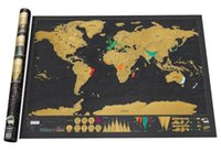 Black Deluxe Scratch off Wall Map Travel Scratch Vintage Map...