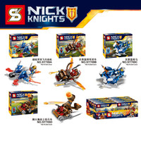 4 Design NEXO KNIGHTS minifigures Building Blocks New childr...