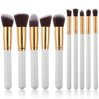 Premium Makeup Brush 10pcs Set Cosmetics Foundation Blending...