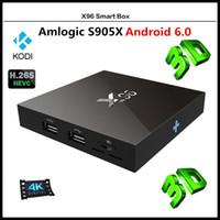 X96 Smart TV BOX 4K Android 6. 0 Amlogic S905X Quad Core H. 26...