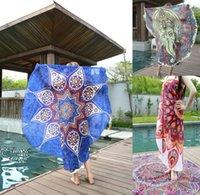 MANDALA TOWEL SUMMER BEACH ROUND TOWELS Indian Bohemian Tape...