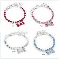 wholesale! rhinestone necklace with heart pendant for dogs p...