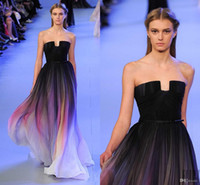 Ellie Saab Prom Dresses Black and Changing Color Wraps Strap...