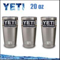 Popur 20 унций YETI Чашки Рамблер Тумблерные Автомобили Пивная кружка большой емкости Mug полный стакан свободная перевозка груза через DHL