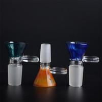 COUVERCLE EN VERRE peigne couleur miel avec poignée ronde Poignée mâle 14,5 mm ou 18,8 mm pour bongs en verre T08