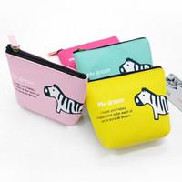 Animal Print Canvas Clutch Bag Handbag Coin Purse key case C...