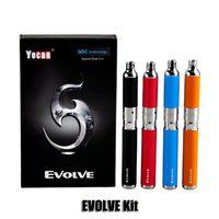 Authentic Yocan Evolve Starter Kit cire stylo Vaporisateur avec 0.8ohm Quartz double Bobines 650mAh Batterie fil ego atomiseur